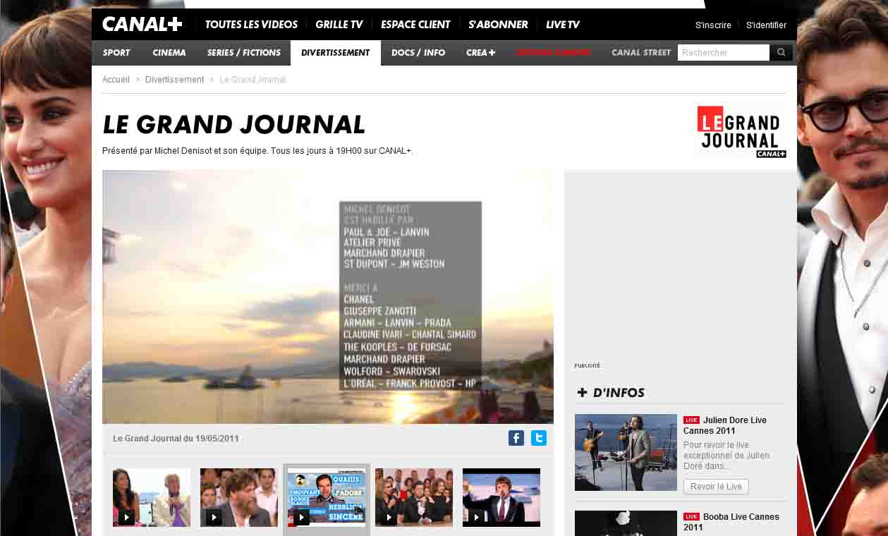 Ariane massenet le grand journal spec cannes 19 mai 2011 3 - Ma deco comme les grands ...